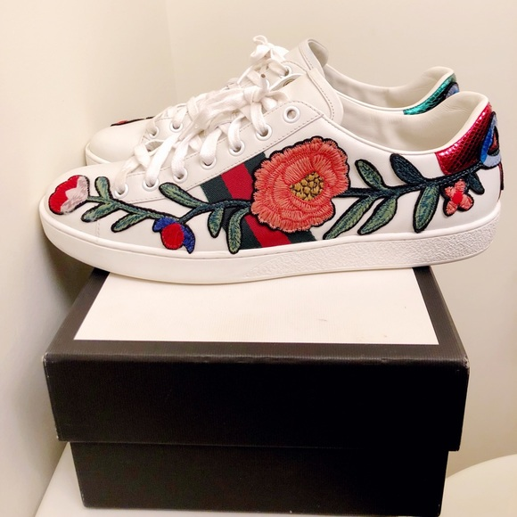 a84b4655b Gucci Shoes | Ace Embroidered Sneakers | Poshmark